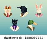 people art animals  cat crow... | Shutterstock .eps vector #1888091332