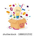 think outside the box business... | Shutterstock .eps vector #1888101532