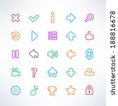 set of game icons in simple...