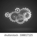 metal gears and cogwheels on... | Shutterstock . vector #188817125