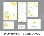 set of ultimate gray and yellow ... | Shutterstock .eps vector #1888179922