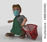 3d render of cartoon shop...   Shutterstock . vector #1888185082