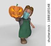 3d render of cartoon shop...   Shutterstock . vector #1888185148