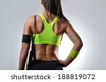 beautiful fitness woman with... | Shutterstock . vector #188819072