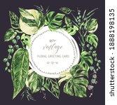 vector watercolor tropical... | Shutterstock .eps vector #1888198135