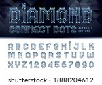 diamond line connect dots... | Shutterstock .eps vector #1888204612