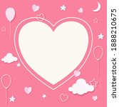 happy saint valentine's day... | Shutterstock .eps vector #1888210675