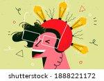 innovation  idea  brainstorm... | Shutterstock .eps vector #1888221172