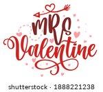 mrs valentine   calligraphy... | Shutterstock .eps vector #1888221238