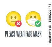 please wear face mask... | Shutterstock . vector #1888221475