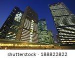 night view of skyscrapers in... | Shutterstock . vector #188822822