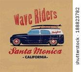 retro surfer print for apparel. ... | Shutterstock .eps vector #188823782