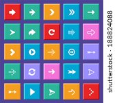 set of flat arrow icons for... | Shutterstock . vector #188824088