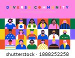 diverse community web page... | Shutterstock .eps vector #1888252258