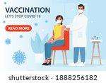 vaccination from coronavirus...   Shutterstock .eps vector #1888256182