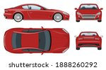 red sports car vector template...   Shutterstock .eps vector #1888260292