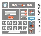 web interface template. flat...