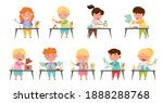 inventive kids engaged in... | Shutterstock .eps vector #1888288768