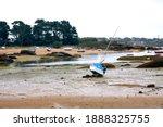 Ocean Landscape At Low Tide On ...