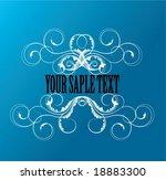 vintage frame | Shutterstock .eps vector #18883300