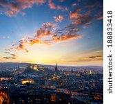 Sunset View Of Edinburgh From...