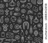 healthy food seamless pattern...   Shutterstock .eps vector #1888342858