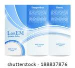 tri fold brochure template | Shutterstock .eps vector #188837876