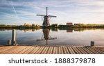 Traditional Dutch Windmill Near ...