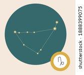 capricorn constellation...   Shutterstock .eps vector #1888399075