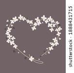 vector illustration of a flower ... | Shutterstock .eps vector #1888431715