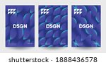 minimalist posters set with... | Shutterstock .eps vector #1888436578