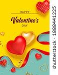 valentine background with... | Shutterstock .eps vector #1888441225