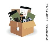 concept of moving to new office.... | Shutterstock .eps vector #1888459768