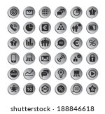 set of web plat icons  can be... | Shutterstock . vector #188846618