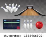 bowling realistic set of... | Shutterstock .eps vector #1888466902