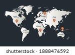 world map  infographics flat...   Shutterstock .eps vector #1888476592