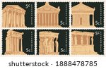 set of postage stamps on the... | Shutterstock .eps vector #1888478785
