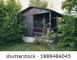Old Wooden Allotment House With ...