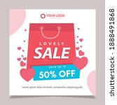 lovely day sale banners...   Shutterstock .eps vector #1888491868