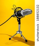 an isolated studio microphone... | Shutterstock . vector #188852132