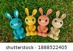 group shot of handmade knitted ... | Shutterstock . vector #1888522405