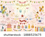 happy birthday birthday party... | Shutterstock .eps vector #1888525675