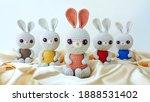 handmade crochet rabbit toy... | Shutterstock . vector #1888531402