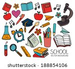school design over gray... | Shutterstock .eps vector #188854106