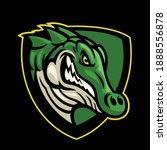 sport style logo of crocodile... | Shutterstock .eps vector #1888556878
