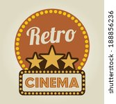 cinema design over beige... | Shutterstock .eps vector #188856236
