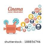cinema design over white... | Shutterstock .eps vector #188856746