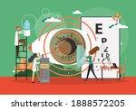 lasik operation concept vector...   Shutterstock .eps vector #1888572205