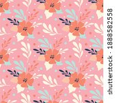 cute seamless pattern with hand ...   Shutterstock .eps vector #1888582558