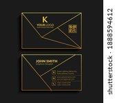 luxury golden vector business... | Shutterstock .eps vector #1888594612